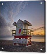 7898- Miami Beach Sunrise Acrylic Print