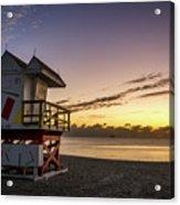 7901- Miami Beach Sunrise Acrylic Print