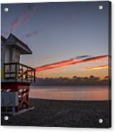 7935- Miami Beach Sunrise 14x25 Acrylic Print