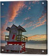 7944- Miami Beach Sunrise Acrylic Print