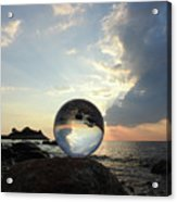 8-26-16--5878 Don't Drop The Crystal Ball, Crystal Ball Photography Acrylic Print