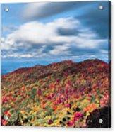 Beautiful Autumn Landscape In North Carolina Mountains Acrylic Print