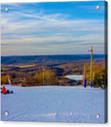 Beautiful Winter Landscape At Timberline West Virginia Acrylic Print