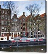 Channels Of Amsterdam Acrylic Print