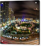 Charlotte City Skyline At Night  Acrylic Print