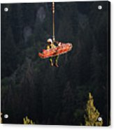 Climber Rescue Operation In Yosemite Acrylic Print