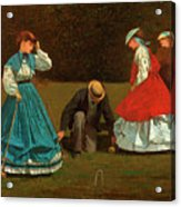 Croquet Scene Acrylic Print