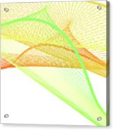Dynamic And Bright Linear Spiral With Colorful Gradient Acrylic Print