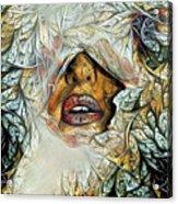 Hidden Face With Lipstick Acrylic Print