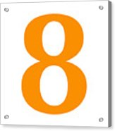 8 In Tangerine Typewriter Style Acrylic Print