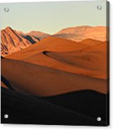 Mesquite Sand Dunes In Death Valley National Park Acrylic Print