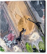 Mining Excavator On The Bottom Surface Mine.  Acrylic Print