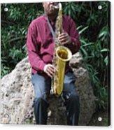 Muslim Jazz Musician. Acrylic Print