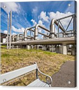 Pipes At Nesjavellir Geothermal Power Acrylic Print