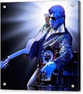 Silver Elvis Acrylic Print
