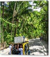 Tuk Tuk Trike Taxi Local Transport In Boracay Island Philippines Acrylic Print