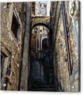 Walking Through The Streets Of Pretoro - Italy  Acrylic Print