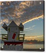 8003- Miami Beach Sunrise Acrylic Print