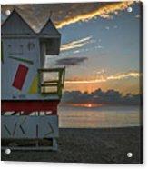 8041- Miami Beach Sunrise Acrylic Print