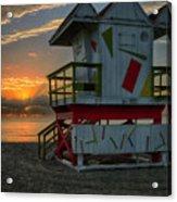 8097- Miami Beach Sunrise Acrylic Print