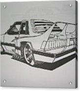 80s Mustang - Rear View Acrylic Print