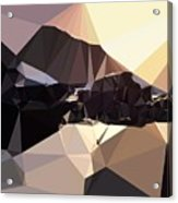 Abstract Art Landscape Of Triangles Acrylic Print