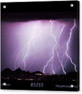 85255 Fine Art Arizona Lightning Photo Poster Acrylic Print