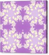 Fractal Floral Pattern Acrylic Print
