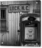 Luck Gas Pump Acrylic Print