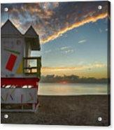 8990- Miami Beach Sunrise Acrylic Print