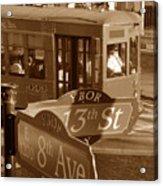 8th Ave Trolley Acrylic Print