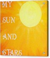 8x10 My Sun And Stars Acrylic Print