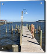 Indian River Lagoon At Eau Gallie In Florida Usa Acrylic Print