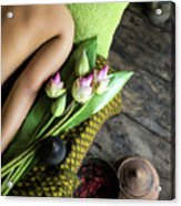 Asian Massage Spa Natural Organic Beauty Treatment Acrylic Print