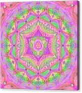 Birth Mandala- Blessing Symbols Acrylic Print