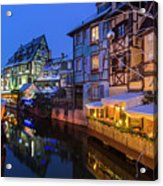 Colmar,petite Venice, Alsace, France, Acrylic Print