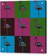 9 Flamingos Acrylic Print