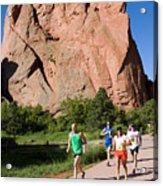 Garden Of The Gods Ten Mile Run In Colorado Springs Acrylic Print