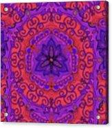 Indian Fabric Pattern Acrylic Print