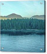Inside Passage Mountain Views Around Ketchikan Alaska Acrylic Print