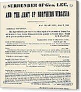 Lees Surrender, 1865 Acrylic Print