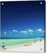 Main Beach Of Tropical Paradise Boracay Island Philippines Acrylic Print