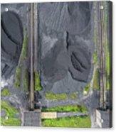 Mining Excavator On The Bottom Surface Mine.  Acrylic Print