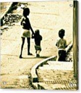 Neighborhood Children Acrylic Print