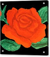 Red Rose, Painting Acrylic Print