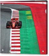 Sebastian Vettel Ferrari  Acrylic Print