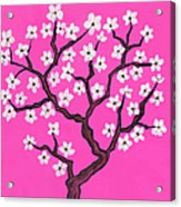 Spring Tree In Blossom, Painting Acrylic Print