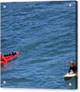 Surfer On Board. Acrylic Print