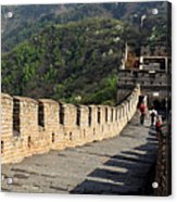 The Mutianyu Section Of The Great Wall Of China, Mutianyu Valley Acrylic Print
