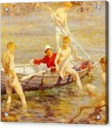 Tuke Henry Scott Ruby Gold And Malachite Henry Scott Tuke Acrylic Print